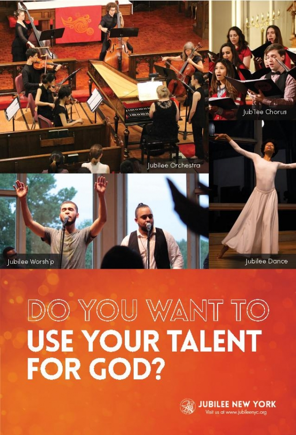 Jubilee NYC Searches for New Staff and Volunteer Musicians with Hope