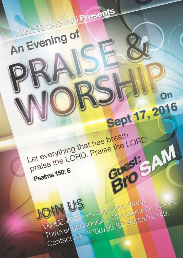 Jubilee Praise and Worship Campaigns Online for Its Upcoming Event