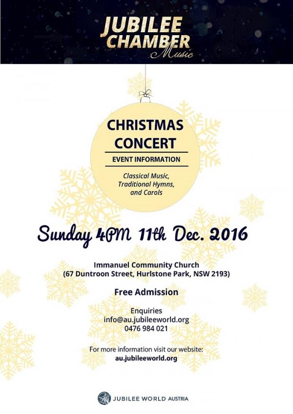 Jubilee World Australia Chamber Music Christmas Concert