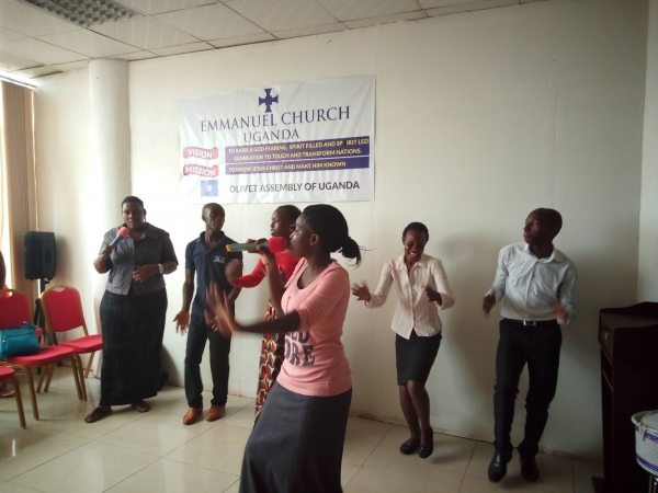 Jubilee worship program in Uganda