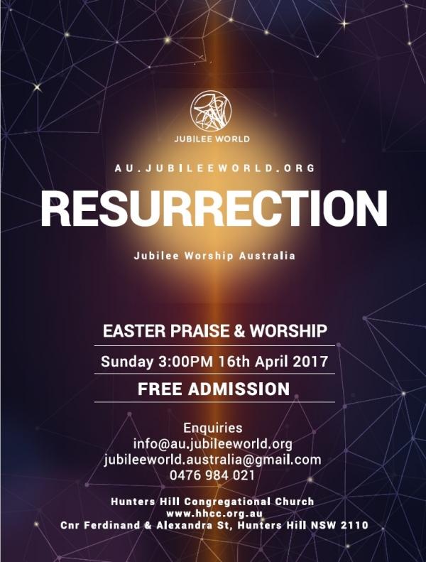Jubilee Worship Australia Easter 2017 Event