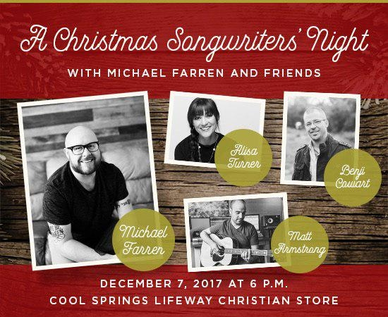 Jubilee Nashville Members To Attend 'A Christmas Songwriters' Night'